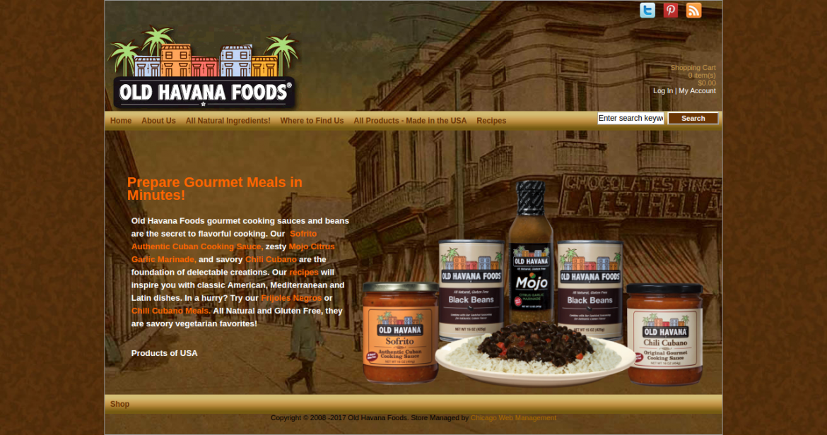 Old Havana Foods - Web Design and Development