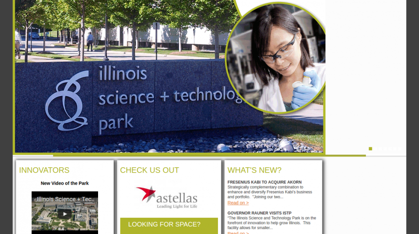 Illinois Science Technology Park - Chicago Web Management