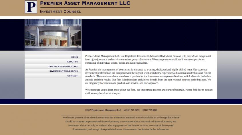 Premier Asset Management - Website Management Services