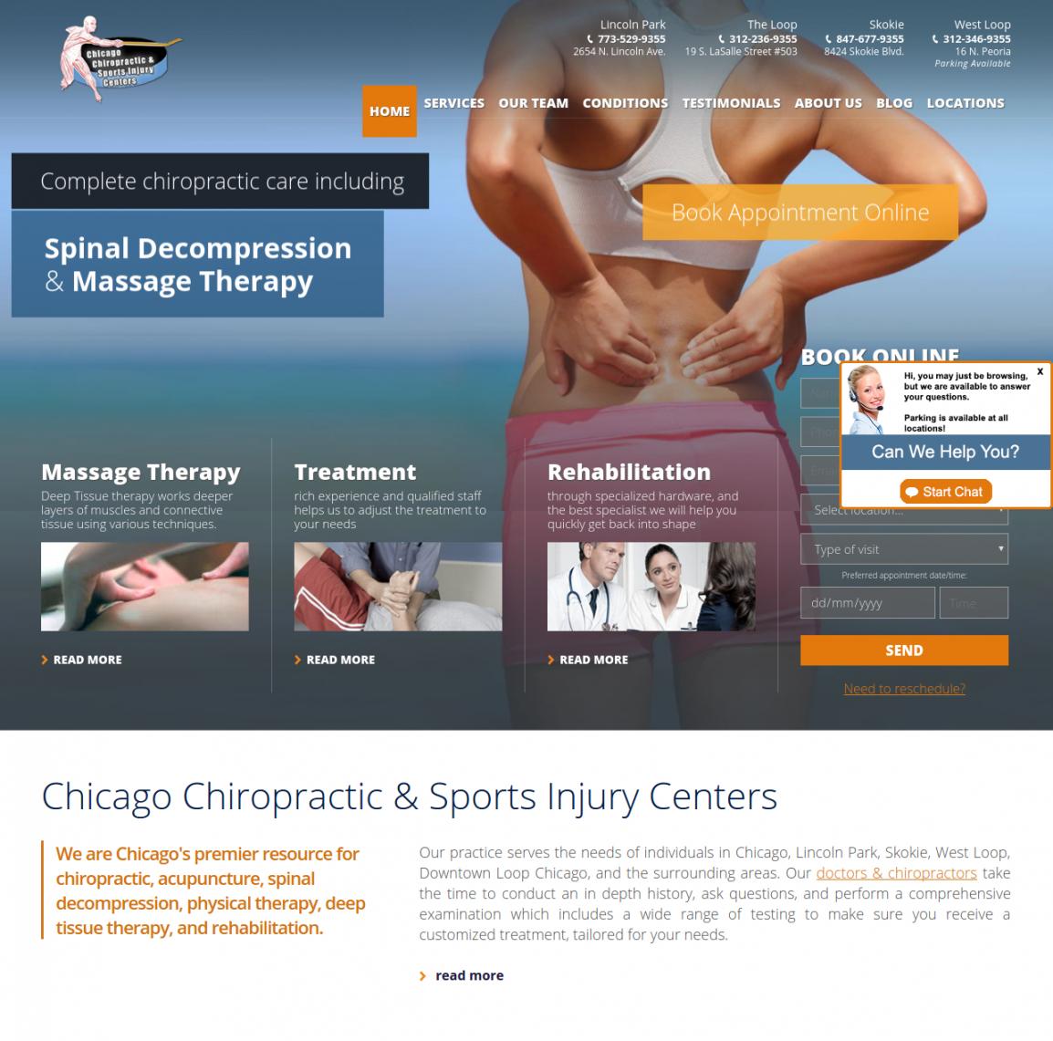 Sports Injury Centers - Chicago Web Management