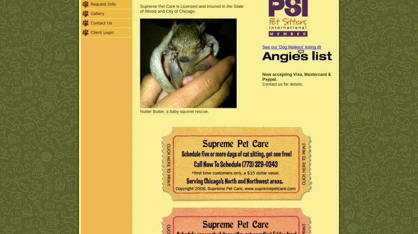Supreme Pet Care - Chiccago Web Management Services