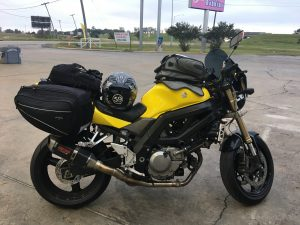 Fully loaded SV650 sport touring